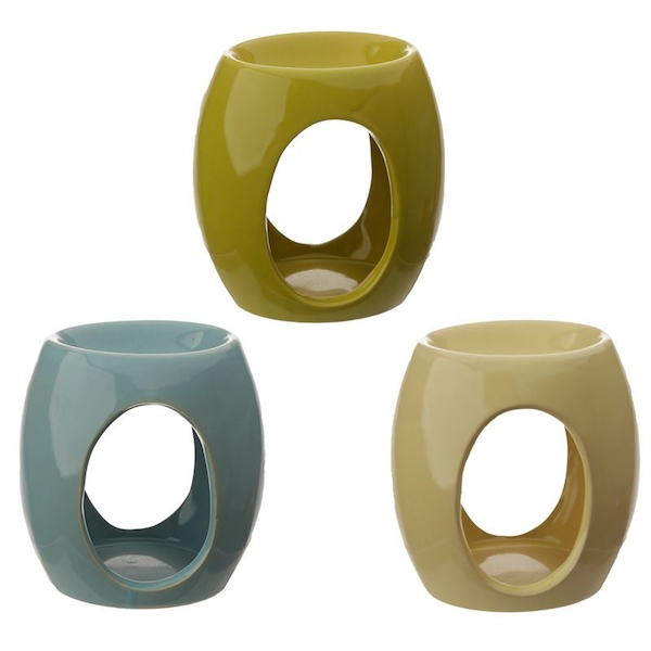 Eden Abstract Ceramic Oil Burner with Oval Cut-out (1 At Random)
