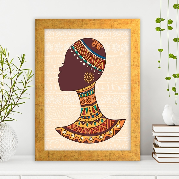 AC393434248 Multicolor Decorative Framed MDF Painting