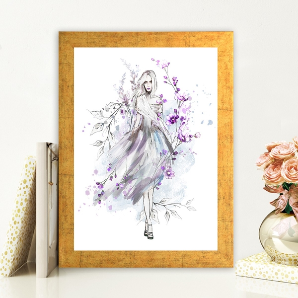 AC736006150 Multicolor Decorative Framed MDF Painting