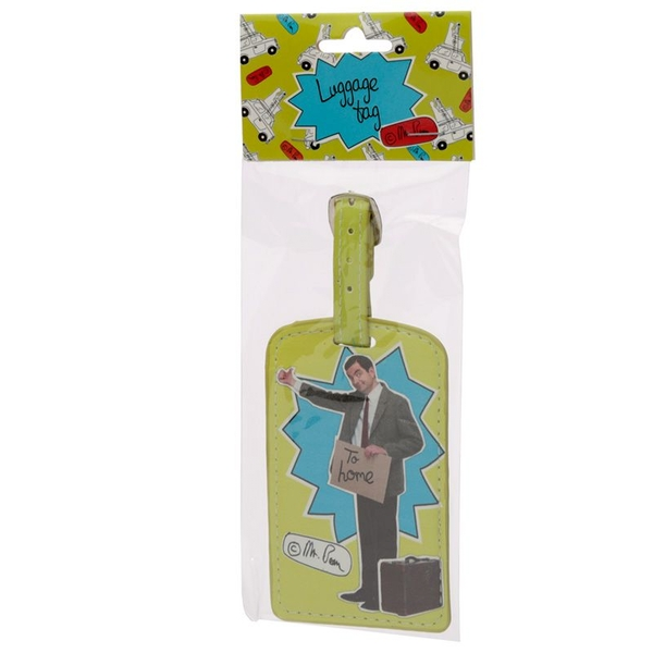 Mr Bean Hitchhiking Luggage Tag