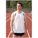 PT Mens Running Vest (White/Black/Silver) 38-40inch