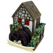 White Fairy House With Water Wheel