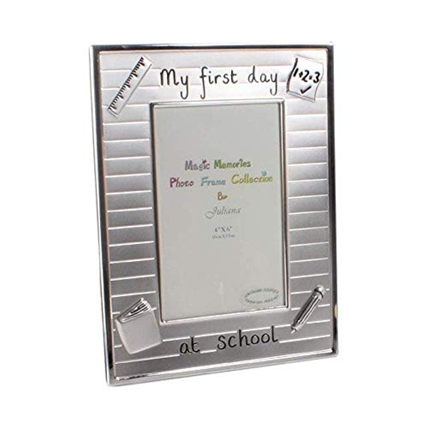 """4"""" x 6"""" - Silver Plated Photo Frame - First Day at School"""