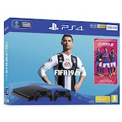 PlayStation 4 (500GB) Black Console with Fifa 19 and Extra Dualshock