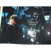 Star Wars In Person Signed 16X12 Dave Prowse As Darth Vader