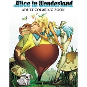 Alice In Wonderland Adult Colouring Book