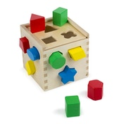 Melissa & Doug Shape Sorting Cube - Classic Wooden Toy