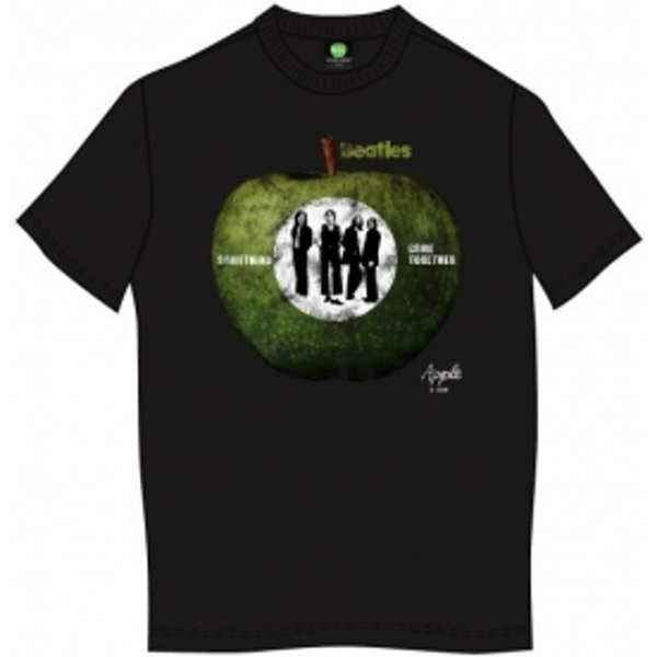 The Beatles Something/Come Together Mens Blk TS: X Large