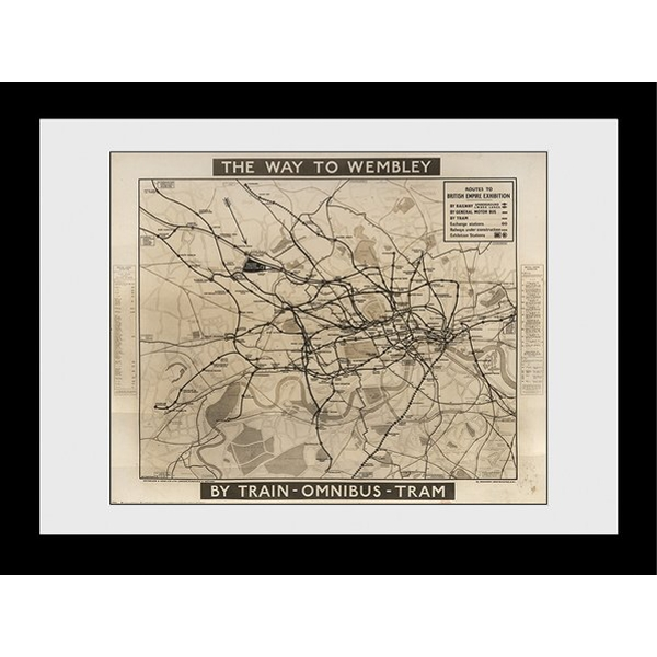 Transport For London Way To Wembley 60 x 80 Framed Collector Print