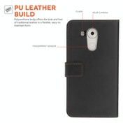 YouSave Accessories Huawei Mate 8 Leather-Effect Wallet Case - Black
