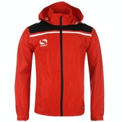 Sondico Precision Rain Jacket Youth 13 (XLB) Red/Black