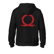 God of War - Serpent Logo Men's Large Full Length Zipper Hoodie - Black