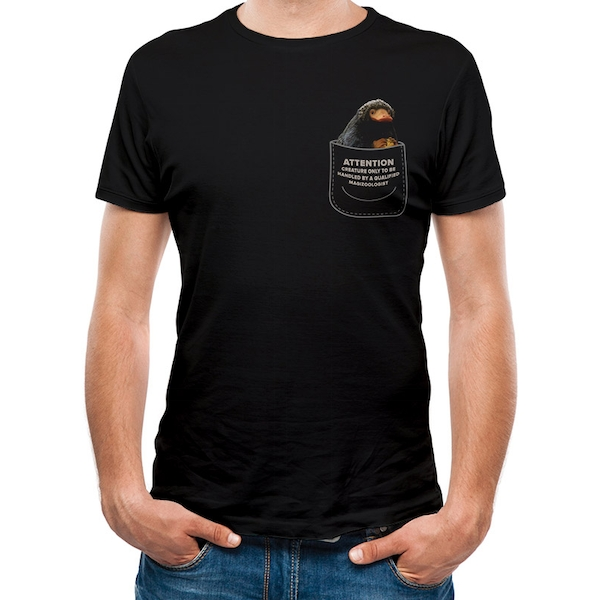 Crimes Of Grindelwald - Niffler In My Pocket Small Unisex T-shirt - Black