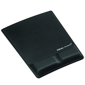 Fellowes Fabrik Mouse Pad/Wrist Support Black