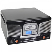 Groov-e Music Centre with Vinyl Record Player CD USB & FM Radio Black