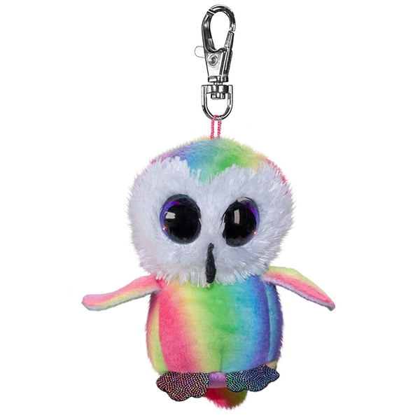 Lumo Stars Mini Keyring - Owl Stripe Plush Toy