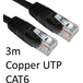 RJ45 (M) to RJ45 (M) CAT6 3m Black OEM Moulded Boot Copper UTP Network Cable - Image 2
