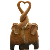 Elephant Family Resin Ornament