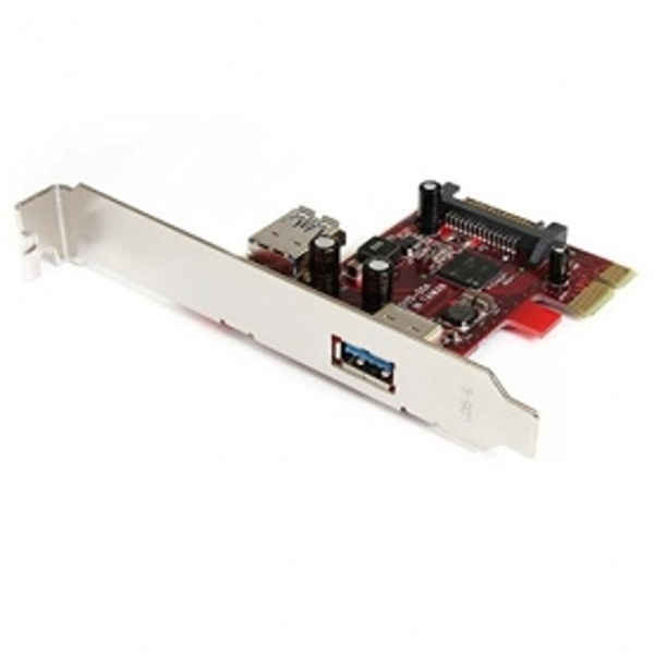 2 port PCI Express SuperSpeed USB 3.0 Card - 1 Internal 1 External