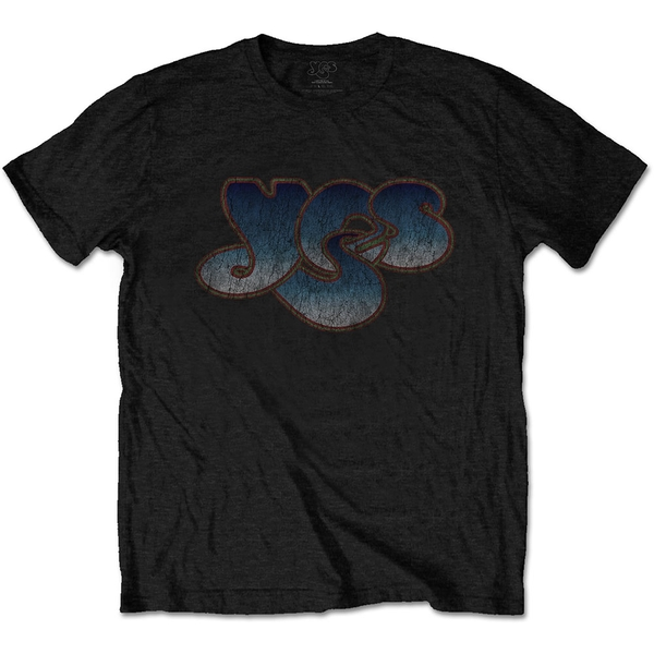 Yes - Vintage Logo Unisex Medium T-Shirt - Black
