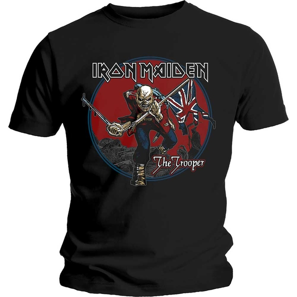 Iron Maiden - Trooper Red Sky Unisex Large T-Shirt - Black