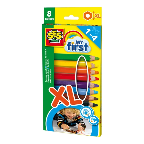 SES Creative - Children's My First Coloured Pencils 1-4 Years (Multi-colour)