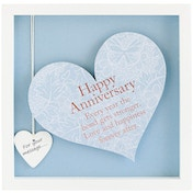 Said with Sentiment Square Heart Frames Happy Anniversary