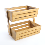 2 Tier Bamboo Storage Basket | M&W