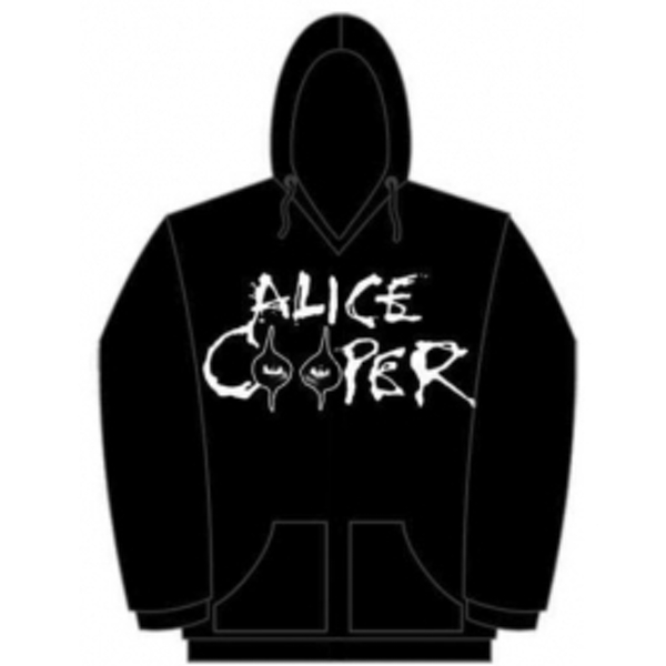 Alice Cooper Eyes Logo Mens Pouched Hoodie: Large