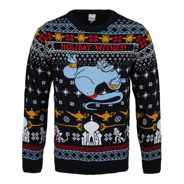 Aladdin - Genie Christmas Wishes Unisex Christmas Jumper Large