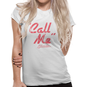 Blondie - Call Me Women's Large T-Shirt - White