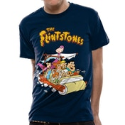 The Flintstones - Car Unisex Medium T-shirt - Blue