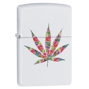 Zippo Floral Weed Design White Regular Windproof Lighter