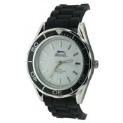 Slazenger Mens Quartz Watch With White Dial Analogue Display and Silicone Strap (SLZ153A)