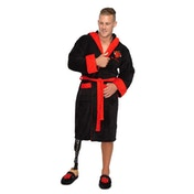MMLM Mr Strong Mens Black and Red Robe with Hood