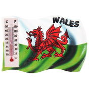 Welsh Flag Magnet with Thermometer