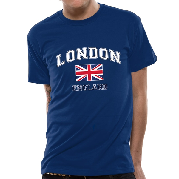 Cid Originals - London England Men's X-Large T-Shirt - Blue