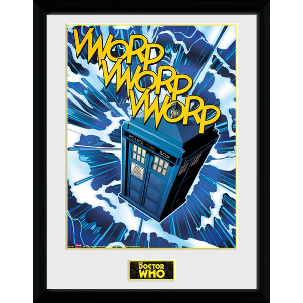 Doctor Who Tardis Comic Framed Collector Print