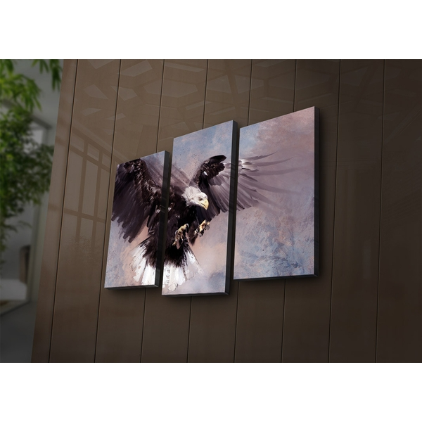 3PAT?ACT-15 Multicolor Decorative Led Lighted Canvas Painting (3 Pieces)