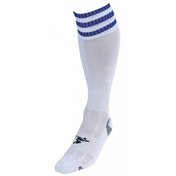 PT 3 Stripe Pro Football Socks Mens White/Royal