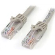 StarTech.com Category 5e 350 MHz Snag-Less UTP Grey Patch Cable 3m