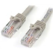 StarTech Category 5e 350 MHz Snag-Less UTP Grey Patch Cable 3m