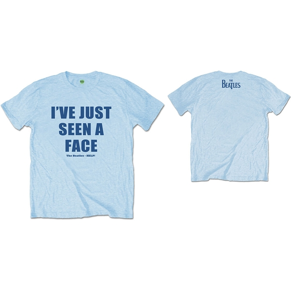 The Beatles - I've Just Seen A Face Unisex Large T-Shirt - Blue