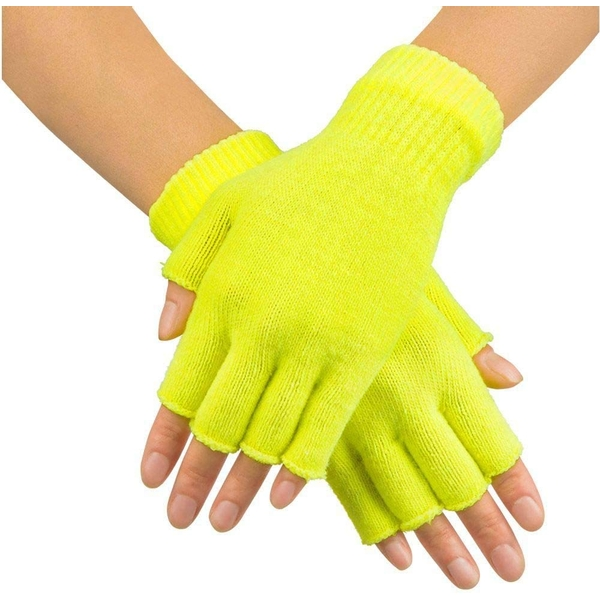 Fingerless Gloves One Size (Yellow)