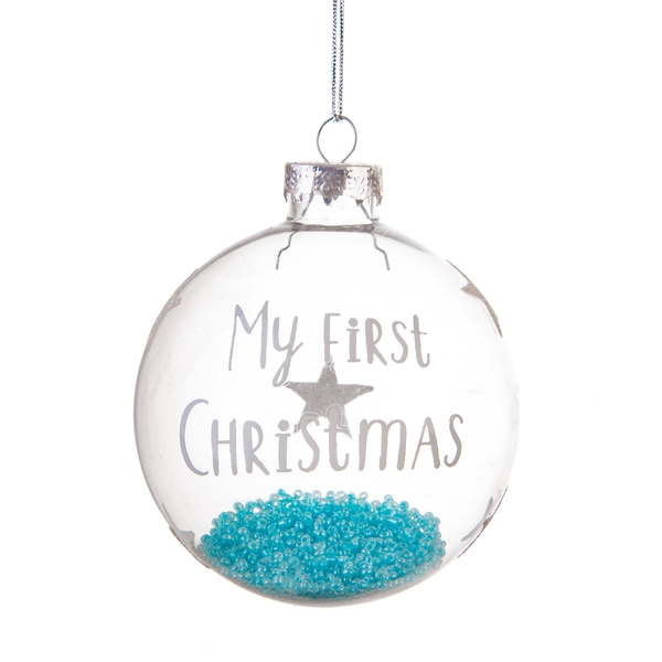 Sass & Belle Baby Boy First Christmas Bauble