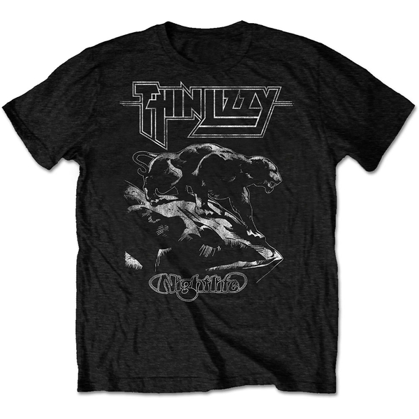Thin Lizzy - Nightlife Men's Small T-Shirt - Black