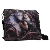 Soul Bond Wolf Embossed Shoulder Bag