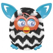 Furby Boom - Black and White Zig-Zag Stripes