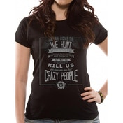 Supernatural - Crazy People (Fitted) Black Large