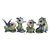 Curious Hatchlings (Set of 4) Ornaments